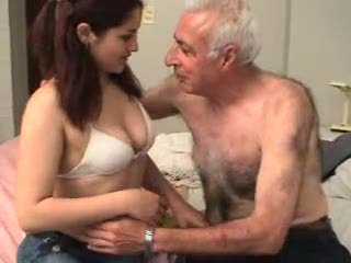 old fart gets his way with a young tart.mp4